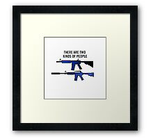 Counter Strike - Two Kinds Of People Framed Print