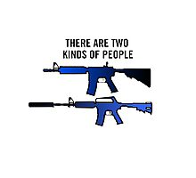 Counter Strike - Two Kinds Of People Photographic Print