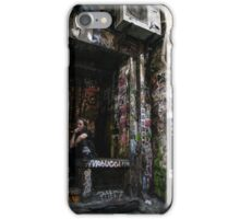 Smoking in a back alley iPhone Case/Skin
