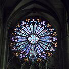 Church Window in Carcassonne by HELUA