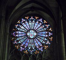 Church Window in Carcassonne by HELUA