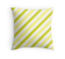 Chartreuse-Diagonal-Tinted-White Two-Tone Diagonal Stripes Throw Pillow