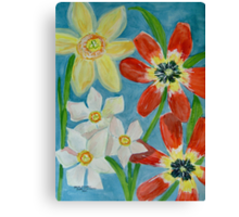 Bold Spring Flowers Canvas Print