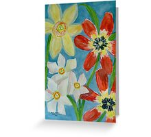 Bold Spring Flowers Greeting Card