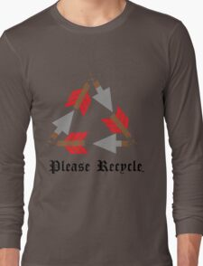 Please Recycle Long Sleeve T-Shirt