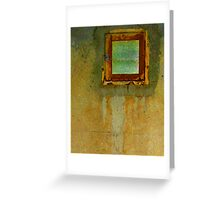 Rusty Window Greeting Card