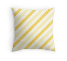 Cream-Diagonal-Tinted-White Two-Tone Diagonal Stripes Throw Pillow