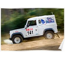 Tempest Rally British Army 4wd Poster
