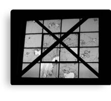 Bordeom and Bullets- Black and White Canvas Print