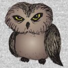 Cranky owl by InkRain