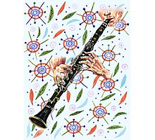Clarinet Rhapsody in a secret garden Photographic Print