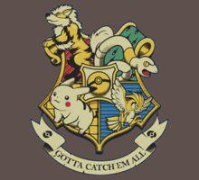pokemon hogwarts logo Kids Clothes