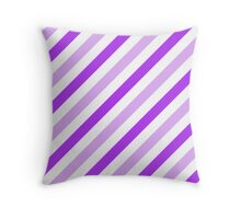Lilac-Diagonal-Tinted-White Two-Tone Diagonal Stripes Throw Pillow
