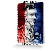 General Smedley Butler: Semper Fi (Always Faithful) Personified, Style 1 Greeting Card