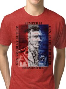 General Smedley Butler: Semper Fi (Always Faithful) Personified, Style 1 Tri-blend T-Shirt