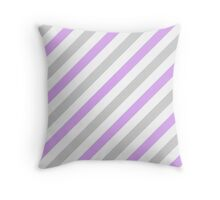 LightGray-4-Diagonal-Tinted-White Two-Tone Diagonal Stripes Throw Pillow