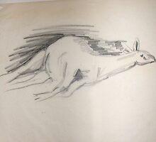 Sleeping Llama by annimoonsong