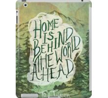 Home Is Behind iPad Case/Skin