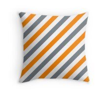 CoolGrey-3-Diagonal-Tinted-White Two-Tone Diagonal Stripes Throw Pillow
