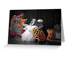 A Halloween Kiss Greeting Card