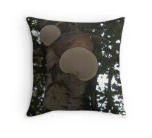 Bracket Fungi Throw Pillow