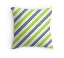 CoolGrey-Diagonal-Tinted-White Two-Tone Diagonal Stripes Throw Pillow