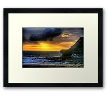 Day Break - Warriewood Beach - The HDR Experience Framed Print