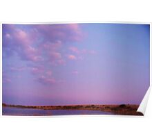 Cape May Point Lake and Clouds Poster