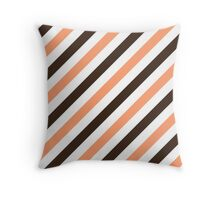 Chocolate-Diagonal-Tinted-White Two-Tone Diagonal Stripes Throw Pillow