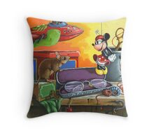 Love in the Attic - fantasy still life painting Throw Pillow