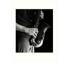 Chris' sax Art Print