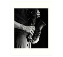 Chris' sax Art Print
