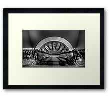 Stairway To Heaven  (Monochrome) - QVB, Sydney - The HDR Experience Framed Print