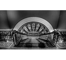 Stairway To Heaven  (Monochrome) - QVB, Sydney - The HDR Experience Photographic Print
