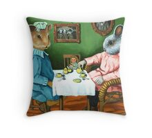 The Tea Party Throw Pillow