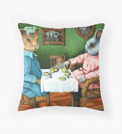 The Tea Party Throw Pillow