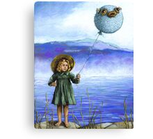 Puffaloon Lake - oil painting Canvas Print