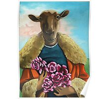 Pink Roses - animal  painting Poster