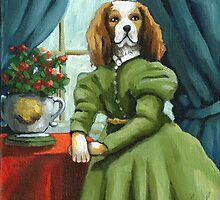 Lady Lenore - Dog portrait - oil painting by LindaAppleArt