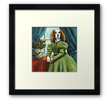Lady Lenore - Dog portrait - oil painting Framed Print