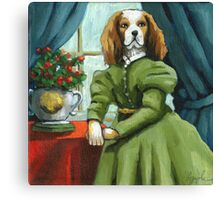 Lady Lenore - Dog portrait - oil painting Canvas Print