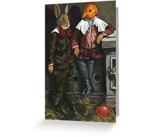 Friends - fantasy oil painting Greeting Card