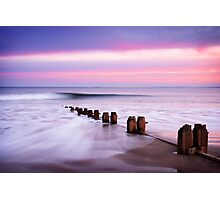 The Perfect Wave, Alnmouth Beach Photographic Print