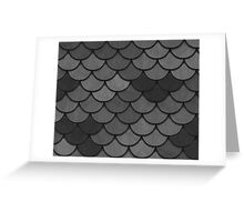 Overlapping Circles in Black & White Greeting Card