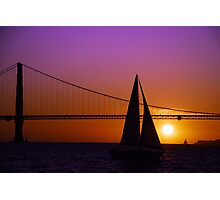 Sailboat Sunset on the Bay Photographic Print