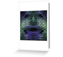 Brick mask Greeting Card