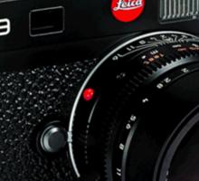 Leica M9 Black Angled Sticker