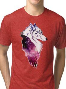 Galaxy Raven & Wolf Tri-blend T-Shirt