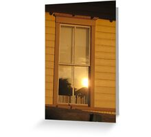Sunset Reflecting in the Window Greeting Card
