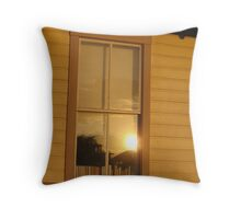 Sunset Reflecting in the Window Throw Pillow